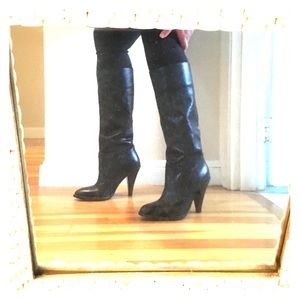 Steve Madden black Leather boots 39
